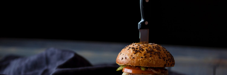 A beef hamburger
